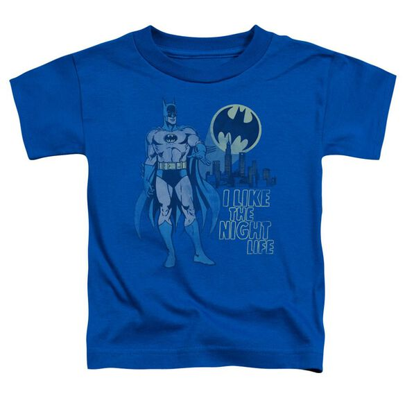 Dc Night Life Short Sleeve Toddler Tee Royal Blue Md T-Shirt