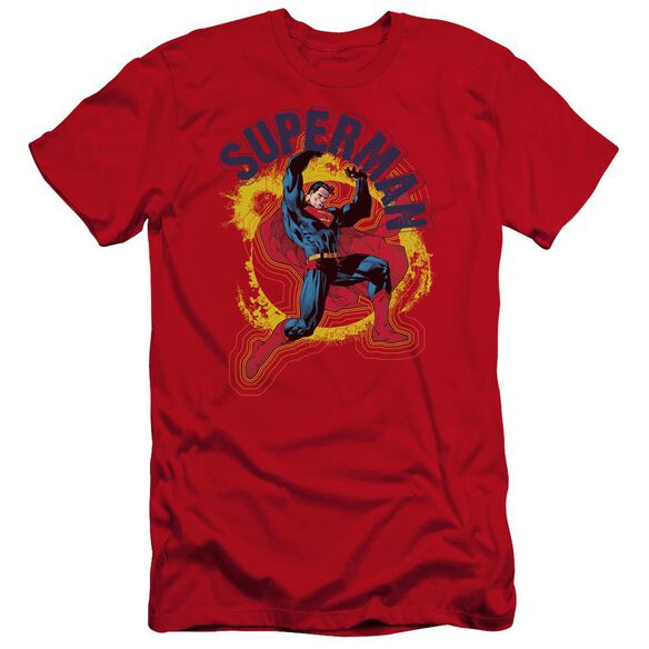 Superman A Name To Uphold Premuim Canvas Adult Slim Fit