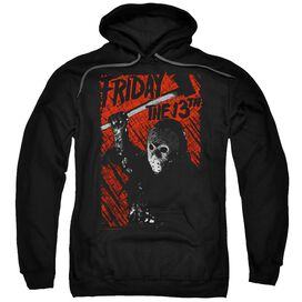 Friday The 13 Th Jason Lives Adult Pull Over Hoodie Black