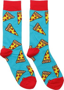 Pepperoni Pizza Slices All Over Crew Socks