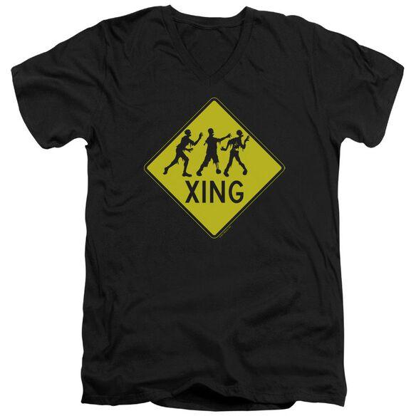 Zombie Xing Short Sleeve Adult V Neck T-Shirt