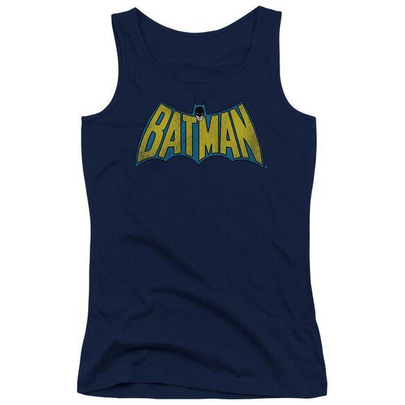Dc Classic Batman Logo Juniors Tank Top