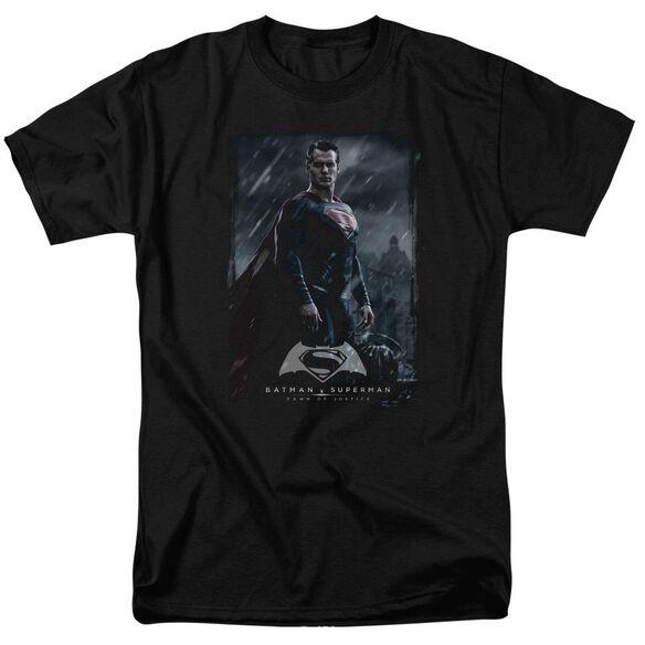 Batman V Superman Supe Poster Short Sleeve Adult Black T-Shirt