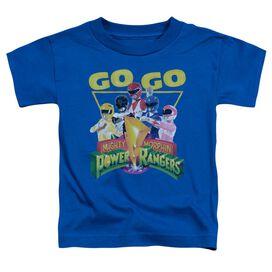 Power Rangers Go Go Short Sleeve Toddler Tee Royal Blue T-Shirt