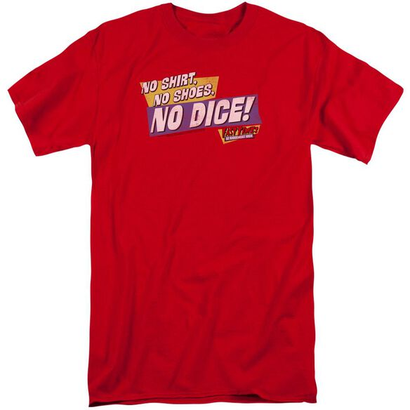 Fast Times Ridgemont High No Dice Short Sleeve Adult Tall T-Shirt