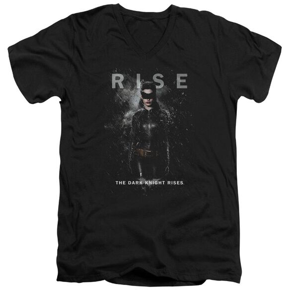 Dark Knight Rises Catwoman Rise Short Sleeve Adult V Neck T-Shirt
