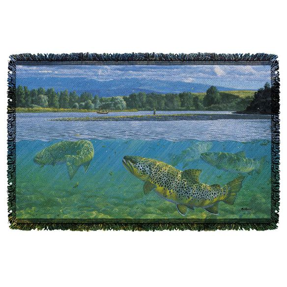 Wild Wings Bighorn River 2 Woven Throw