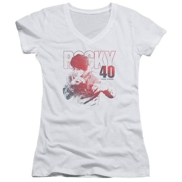 Rocky 40 Years Strong Junior V Neck T-Shirt
