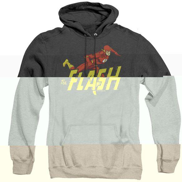 Dc Flash 8 Bit Flash - Adult Heather Hoodie - Black