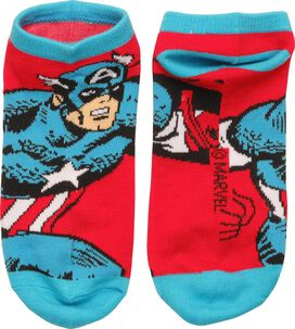 Captain America Action Pose Low Cut Socks