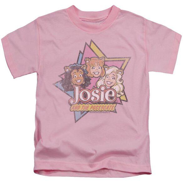 Archie Comics Stars Short Sleeve Juvenile Pink T-Shirt