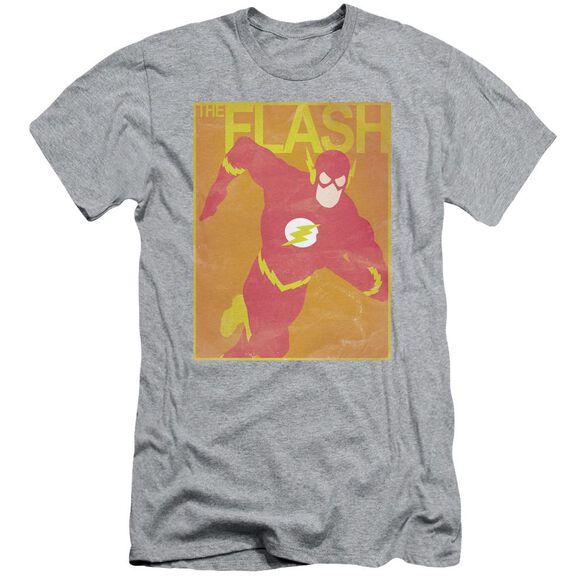 Jla Simple Flash Poster Short Sleeve Adult Athletic T-Shirt
