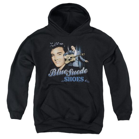 Elvis Presley Blue Suede Shoes Youth Pull Over Hoodie