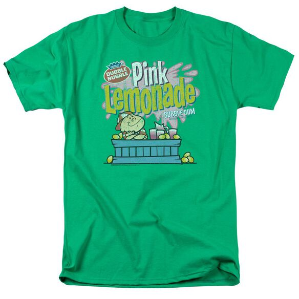 Dubble Bubble Pink Lemonade Short Sleeve Adult Kelly Green T-Shirt