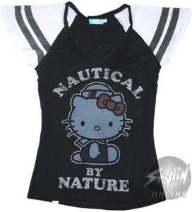 Hello Kitty Nautical Nature Baby Tee