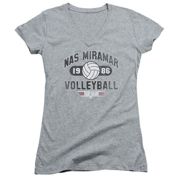 Top Gun Nas Miramar Volleyball Junior V Neck Athletic T-Shirt