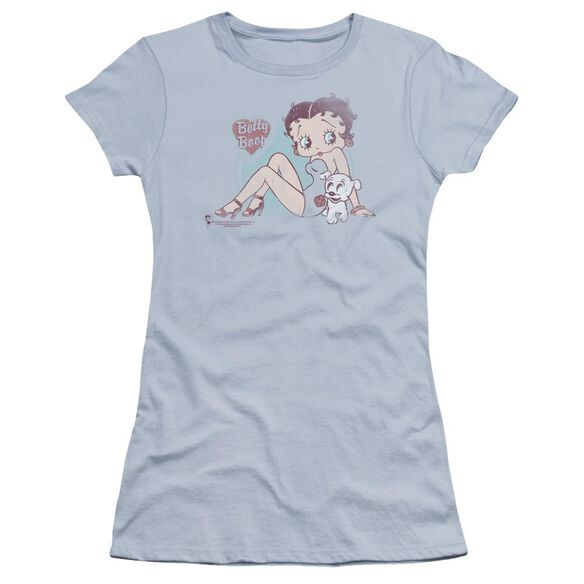 Betty Boop Vintage Pin Pup Premium Bella Junior Sheer Jersey Light