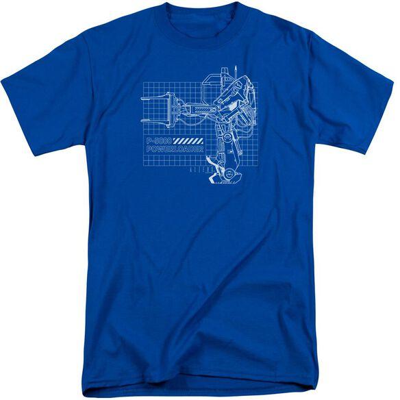 Aliens Powerloader Short Sleeve Adult Tall Royal T-Shirt