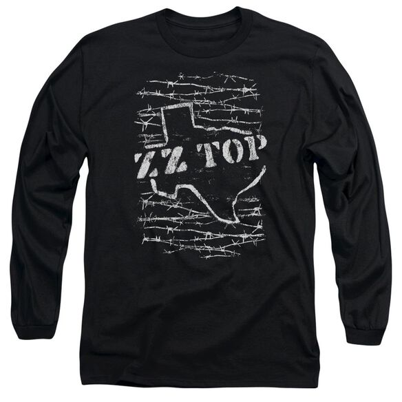Zz Top Barbed Long Sleeve Adult T-Shirt