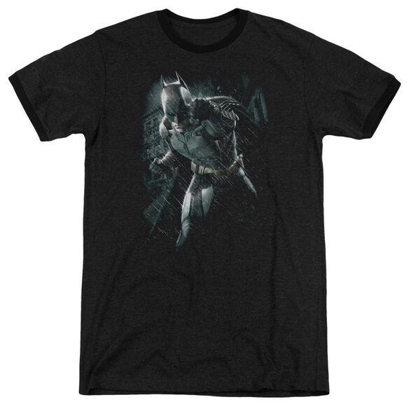Dark Knight Rises Batman Rain Adult Heather Ringer