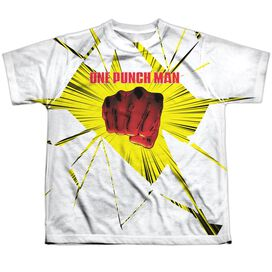 One Punch Man Shattered Short Sleeve Youth Poly Crew T-Shirt