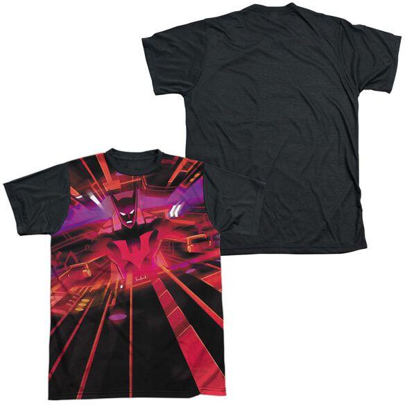 Batman Beyond Batmobile Interior Short Sleeve Adult Front Black Back T-Shirt