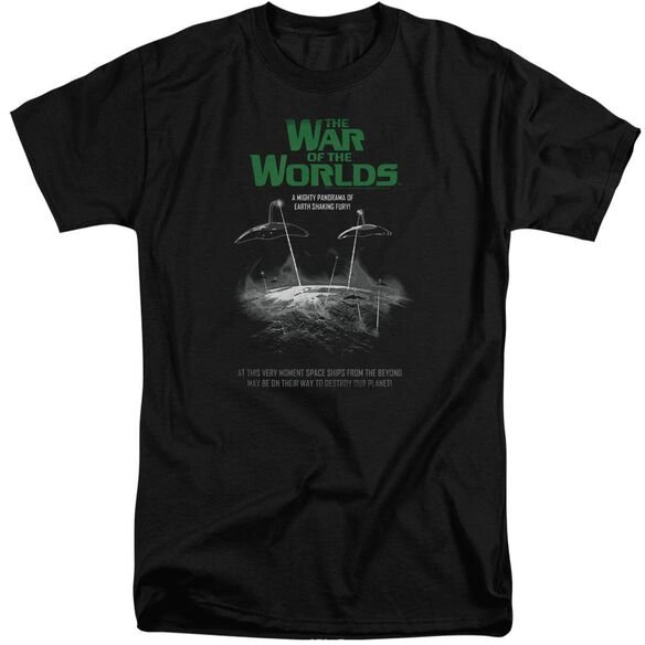 War Of The Worlds Attack Poster Short Sleeve Adult Tall T-Shirt