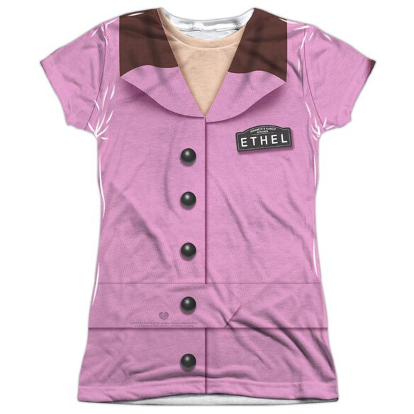 I Love Lucy Ethel Chocolate Costume Short Sleeve Junior Poly Crew T-Shirt