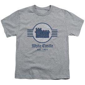 White Castle Emblem Short Sleeve Youth Athletic T-Shirt