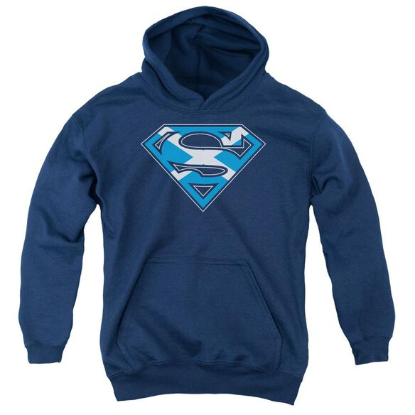 Superman Scottish Shield Youth Pull Over Hoodie