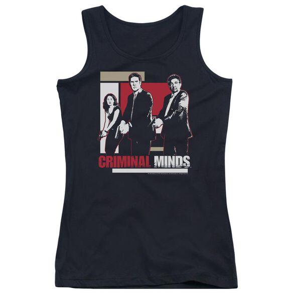 Criminal Minds Guns Drawn - Juniors Tank Top - Black