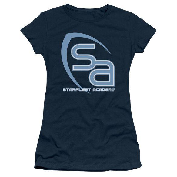 Star Trek Sa Logo Short Sleeve Junior Sheer T-Shirt