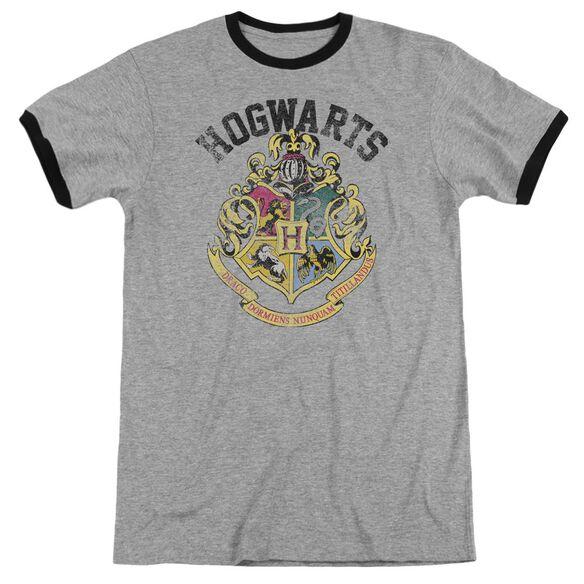 Harry Potter Hogwarts Crest Adult Ringer Heather