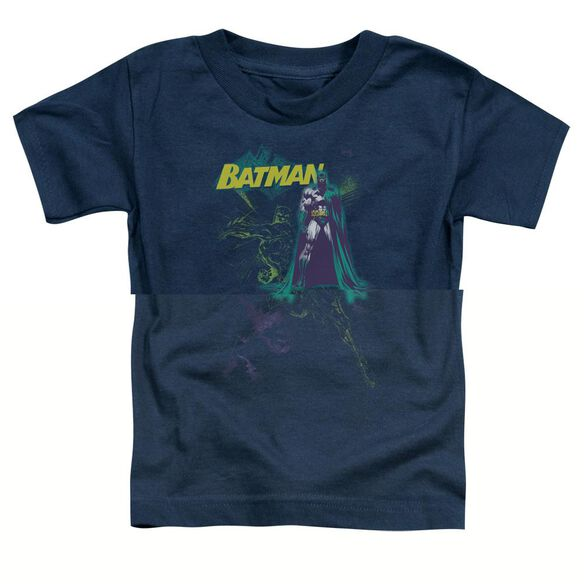 BATMAN BAT SPRAY - S/S TODDLER TEE - NAVY - T-Shirt