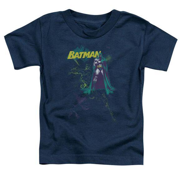 Batman Bat Spray Short Sleeve Toddler Tee Navy Sm T-Shirt