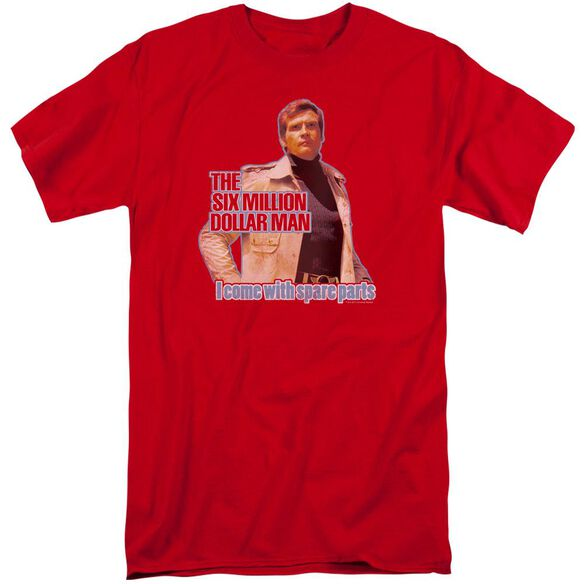 Six Million Dollar Man Spare Parts Short Sleeve Adult Tall T-Shirt