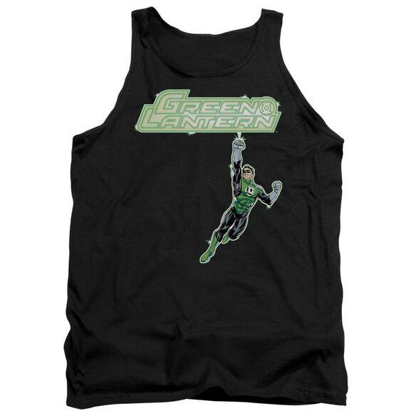 Green Lantern Energy Construct Logo - Adult Tank - Black