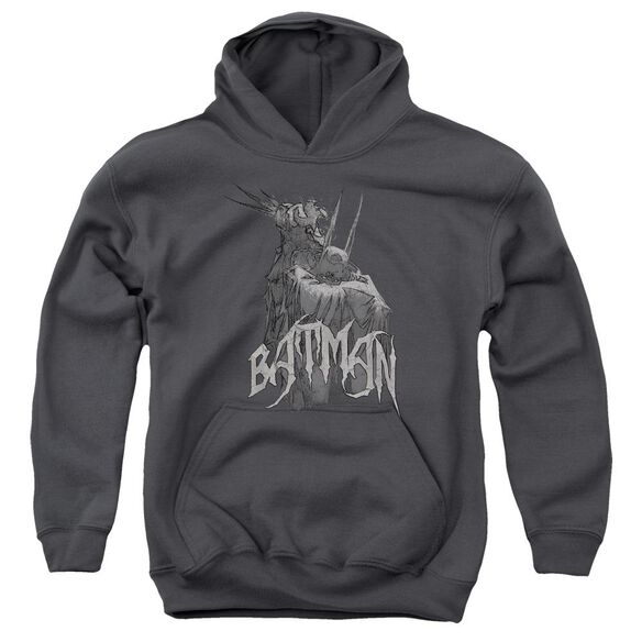 Batman Scary Right Hand Youth Pull Over Hoodie