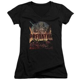 Predator Battle Junior V Neck T-Shirt