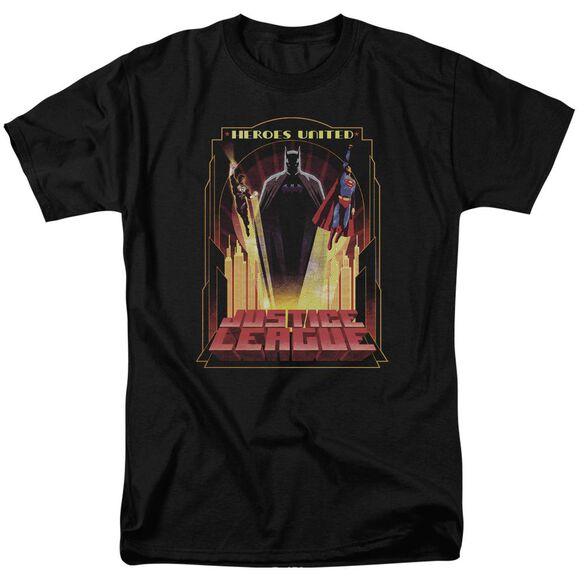 Jla Heroes United Short Sleeve Adult T-Shirt