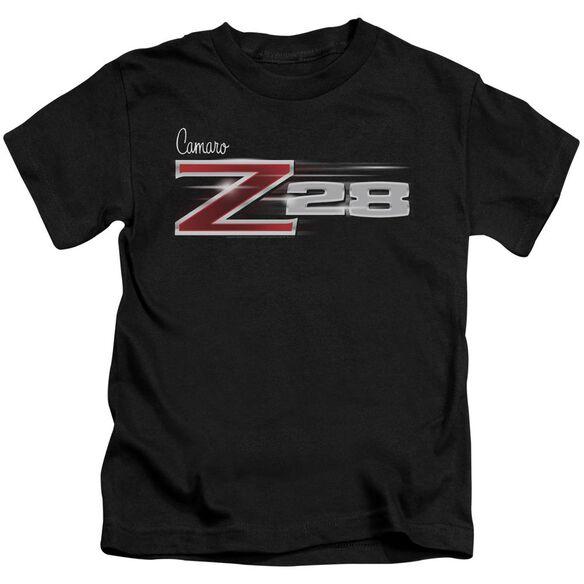 Chevrolet Z28 Logo Short Sleeve Juvenile Black T-Shirt
