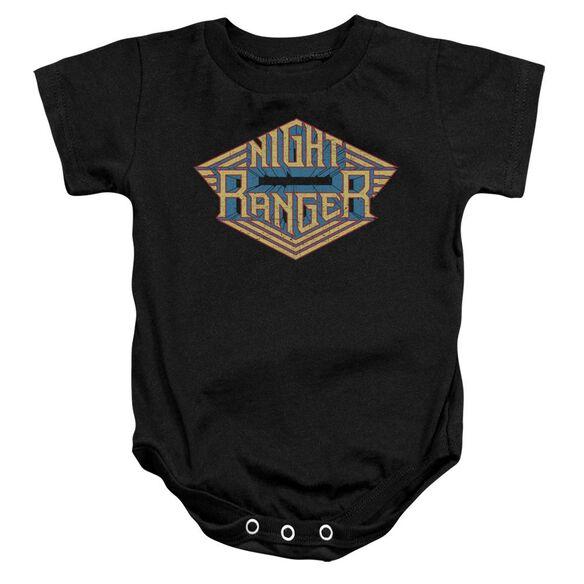 Night Ranger Logo Infant Snapsuit Black