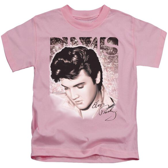 Elvis Star Light Short Sleeve Juvenile Pink Md T-Shirt