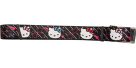 Hello Kitty Faces Outline Stars Black Mesh Belt