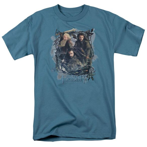 Hobbit Three Dwarves Short Sleeve Adult Slate T-Shirt