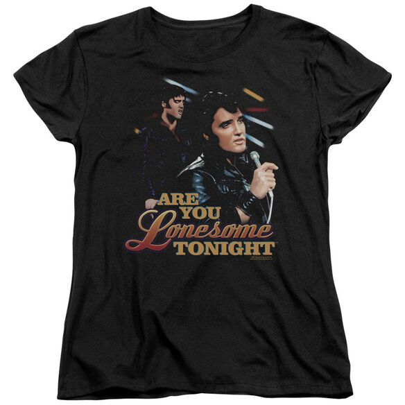 Elvis Are You Lonesome Short Sleeve Women's Tee T-Shirt
