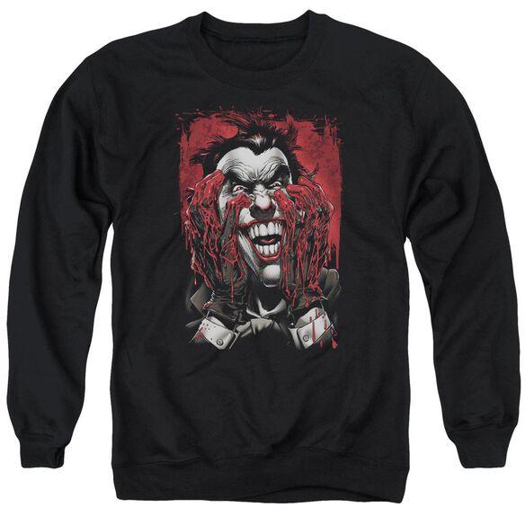 Batman Blood In Hands Adult Crewneck Sweatshirt