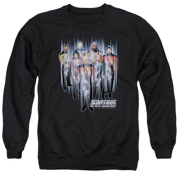 Star Trek Beam Us Up - Adult Crewneck Sweatshirt - Black