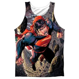 Superman Up Up Adult 100% Poly Tank Top