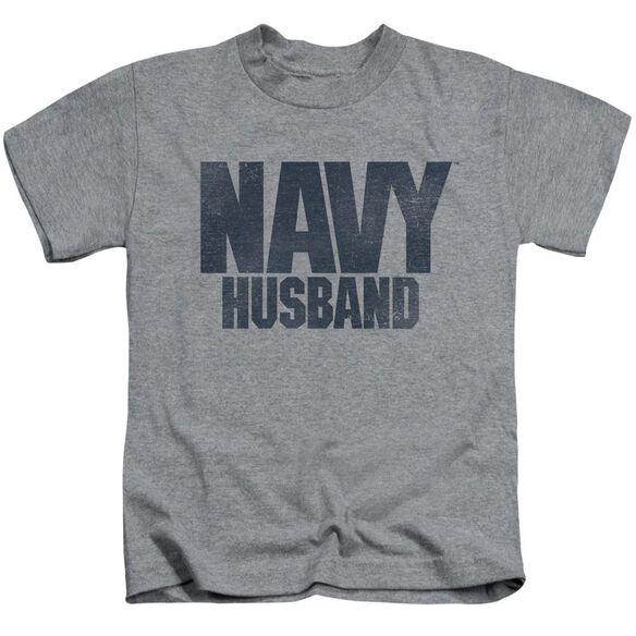 Navy Husband Short Sleeve Juvenile Athletic T-Shirt